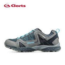 Clorts Men Outdoor Hiking Shoes Nubuck Mesh Trekking Shoes Waterproof Climbing Shoes Breathable Mountain Shoes Blue/Brown