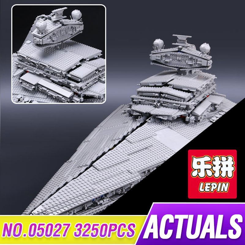2017 New LEPIN 05027 3250Pcs Star Series Wars The Star Destroyer Model Building Blocks Bricks Compatible Funny Toys 10030 lepin 05028 3208pcs star wars building blocks imperial star destroyer model action bricks toys compatible legoed 75055