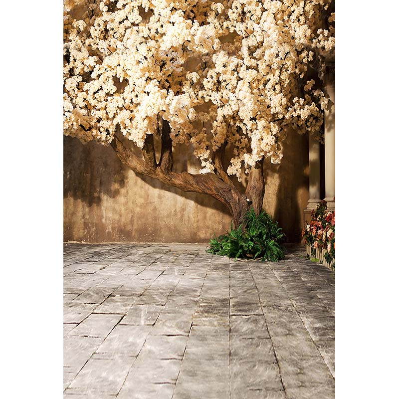 Vinyl cloth print 3 D floral tree corner photo studio background for portrait photography backdrops CM-5395