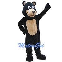 Черный медведь талисмана платье для дня рождения на Хэллоуин