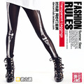 New fashion Brand Women Hip hop ds costume sexy bones rack ultra elastic gauze patchwork legging dance wear Skull basic leggings