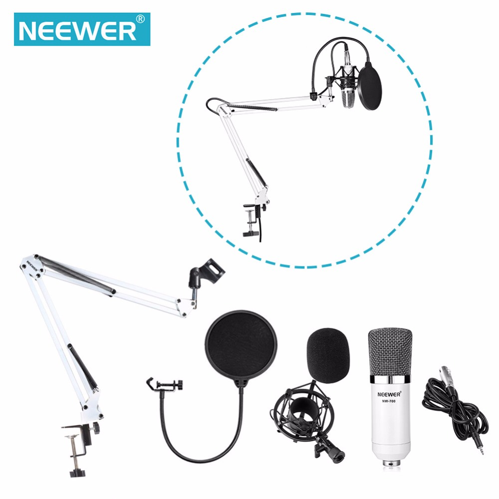 Neewer NW 700 Microphone Kit Includes 1 Condenser Microphone 1 Microphone Stand 1 Pop Filter 1