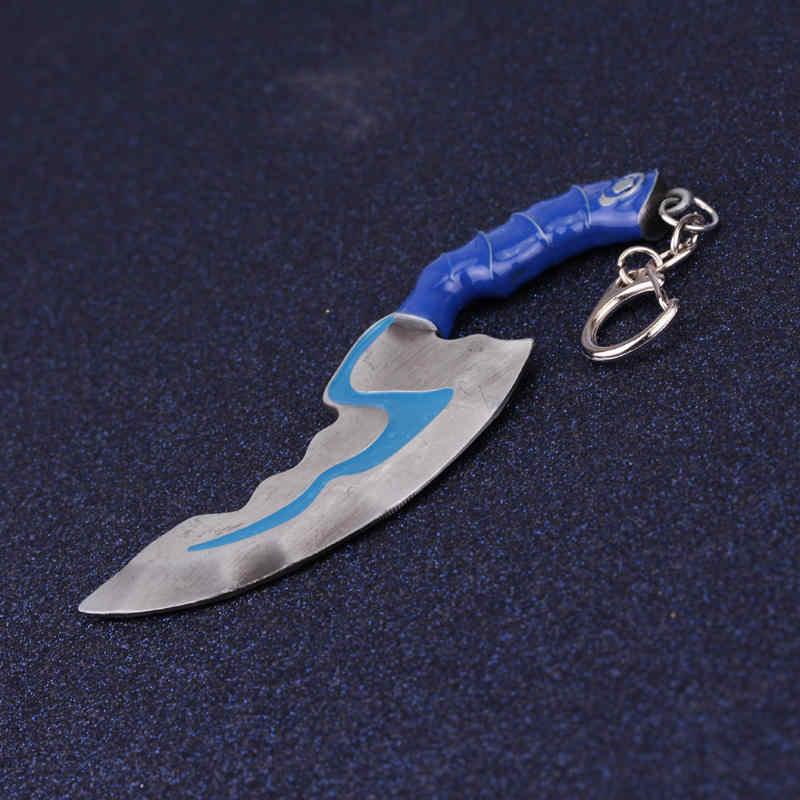 dongsheng Men Jewelry Anime Game Dota 2 Keychain Mini Blink Dagger Jump Cut Weapon Model Dota2 Key Chain Flashing Keyrings-50