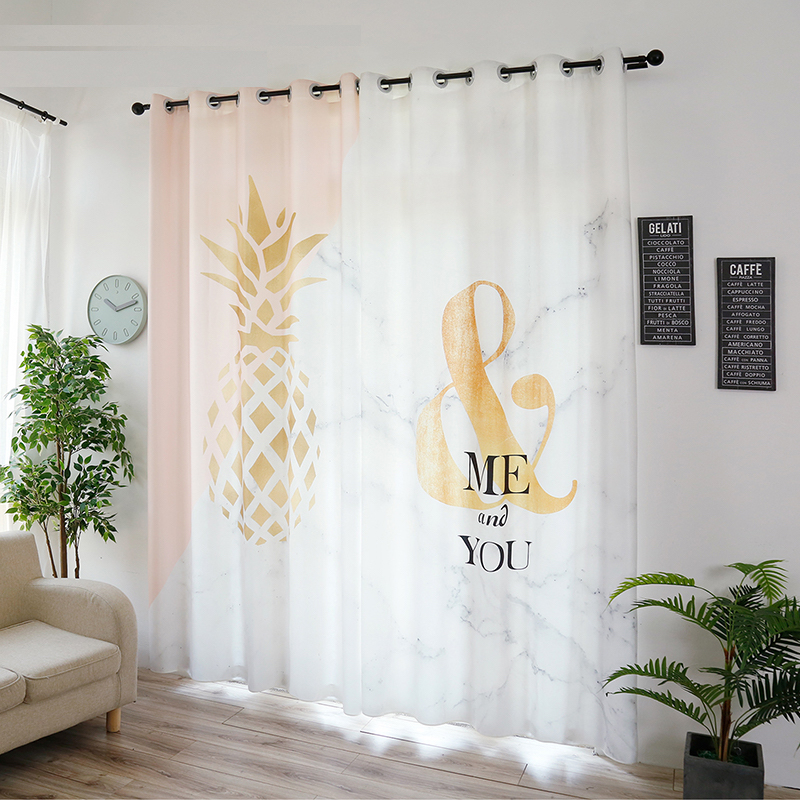 Us 63 75 15 Off Tailor 2x Window Draperies Curtain Nursery Kids Children Room Dressing Cover 200x260cm Pinele Treble Clef White In