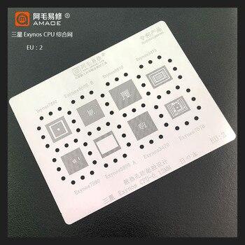Para Exynos 7880/8895/9810/3475/7580/8895/3470/7570 para SAMSUNG CPU chip RAM BGA plantilla IC soldadura Reballing estaño Pin calentamiento