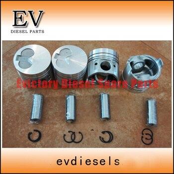 For Yanmar 4D98 4D98E 4TNE98 Piston Piston Ring Cylinder Liner +4TNE98 Engine Bearing Full Gasket Kit And Water Pump Valve Kit