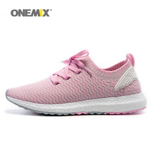 ONEMIX Woman Running Shoes For Women Olympic Athletic Trainers Pink Zapatillas Sports Shoe Outdoor Walking Sneakers Free Ship