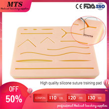 MTS Silicone Skin Suture pad Surgical wound Suture Training Kit for medical teaching Practice training traumatic pistol цены