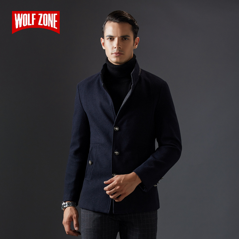 2018 Slim Fashion Single Breasted Overcoat Jacket Men Business Casual Long Wool Winter Keep Warm Mens Coat Male Brand Clothes