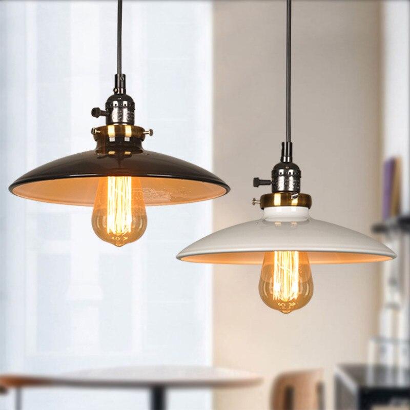 ФОТО Vintage Loft Pendant Lights Retro Edison Bulb lamps Metal Lamp Shade Pendant Lamps Kitchen Dining room Bar Restaurant Lighting