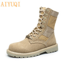 2019 new autumn genuine leather women Martin boots with womens military outdoor couple safety
