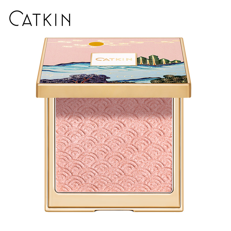 CATKIN 12g Moonlight Contour Palette C02 Light Pink Shimmer Natural Nutritious Moisturizer Oil-control Waterproof Wholesale image