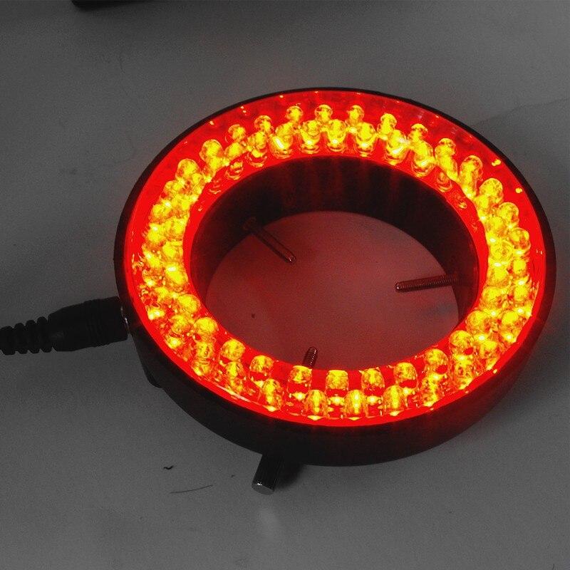 все цены на 60 Red Color Ring LED Lights Brightness Adjustable Light Source For Stereo Microscopeled LED Illumination онлайн