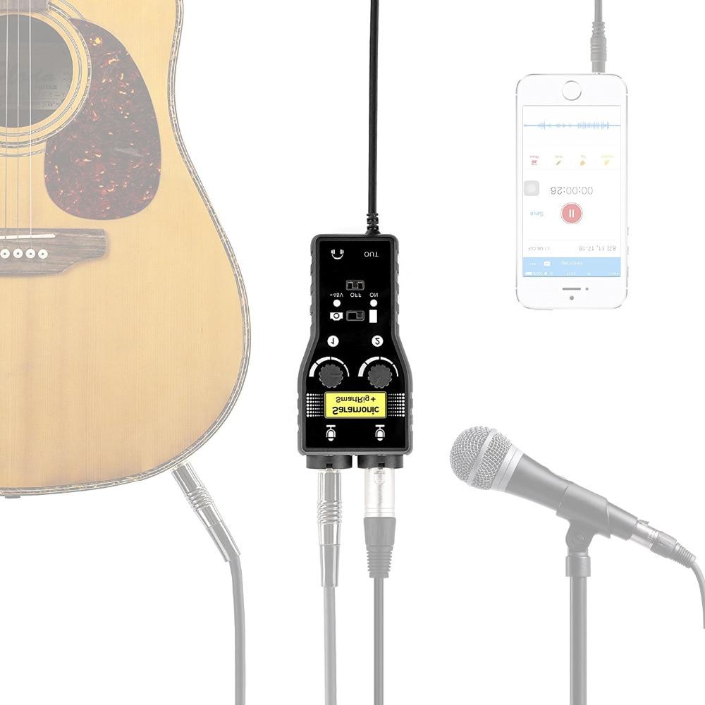 Saramoni Gutar / Bas Aksesuarları ses Arabirimi için kayıt vokal - Taşınabilir Ses ve Görüntü - Fotoğraf 3