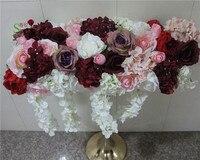 SPR высокое качество 2 м/лот свадебная АРКА цветок этап или фон декоративные оптовая продажа искусственных цветов Таблица Центральным