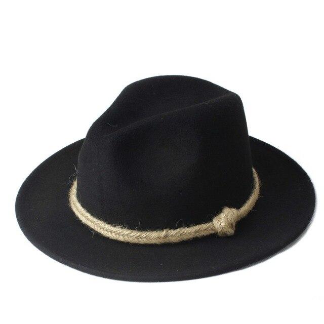 Moda das Mulheres Dos Homens Chapéu Fedora Chapeu Feminino Para Gentleman  Ampla aba Linho Jazz Cap 94bc36ff7ef