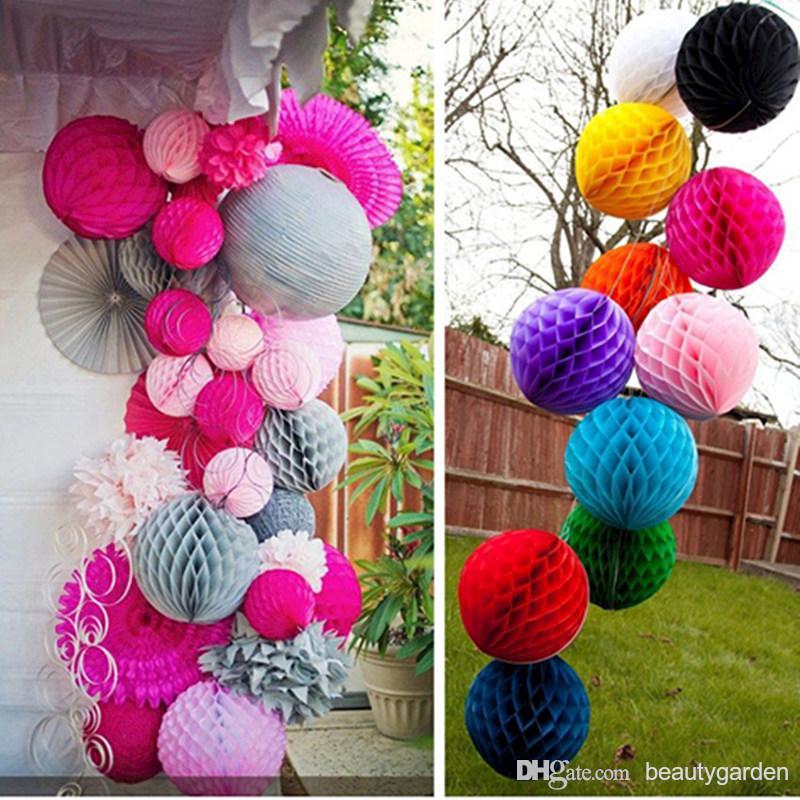 50 teile / los 30 cm Durchmesser DIY Papier Waben Blume Ball Hochzeit - Partyartikel und Dekoration - Foto 3