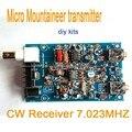 Micro Альпинист передатчик приемник QRP CW Хэм Любительского Коротковолнового Радио 7.023 МГЦ diy комплекты