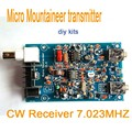Micro Mountaineer Amateur Ham QRP CW transmisor receptor de Onda Corta de Radio 7.023 MHZ kits de bricolaje