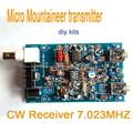 Micro receptor transmissor Montanhista Amador Presunto QRP CW Ondas Curtas de Rádio 7.023 MHZ kits diy