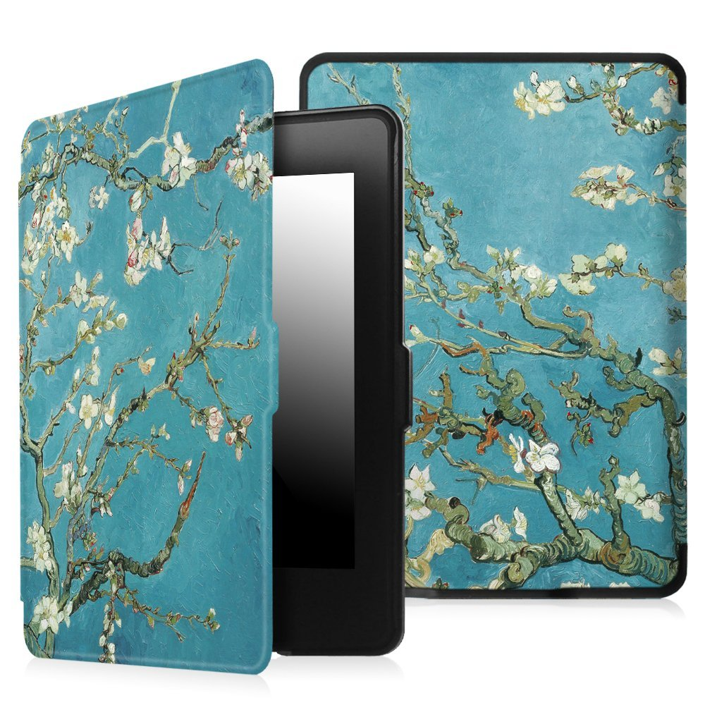 Zimoon para Amazon Kindle paperwhite 1/2/3 Van Gogh diseño piel auto wake up/Sleep 6 pulgadas con protector de pantalla