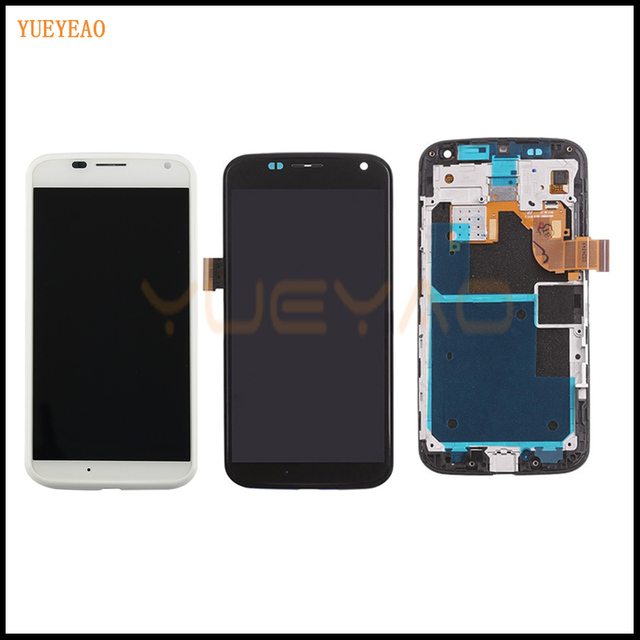 YUEYAO LCD Screen For Motorola For Moto X XT1052 XT1053 XT1056 XT1058 XT1060 LCD Screen Display Touch Digitizer Assembly+Frame