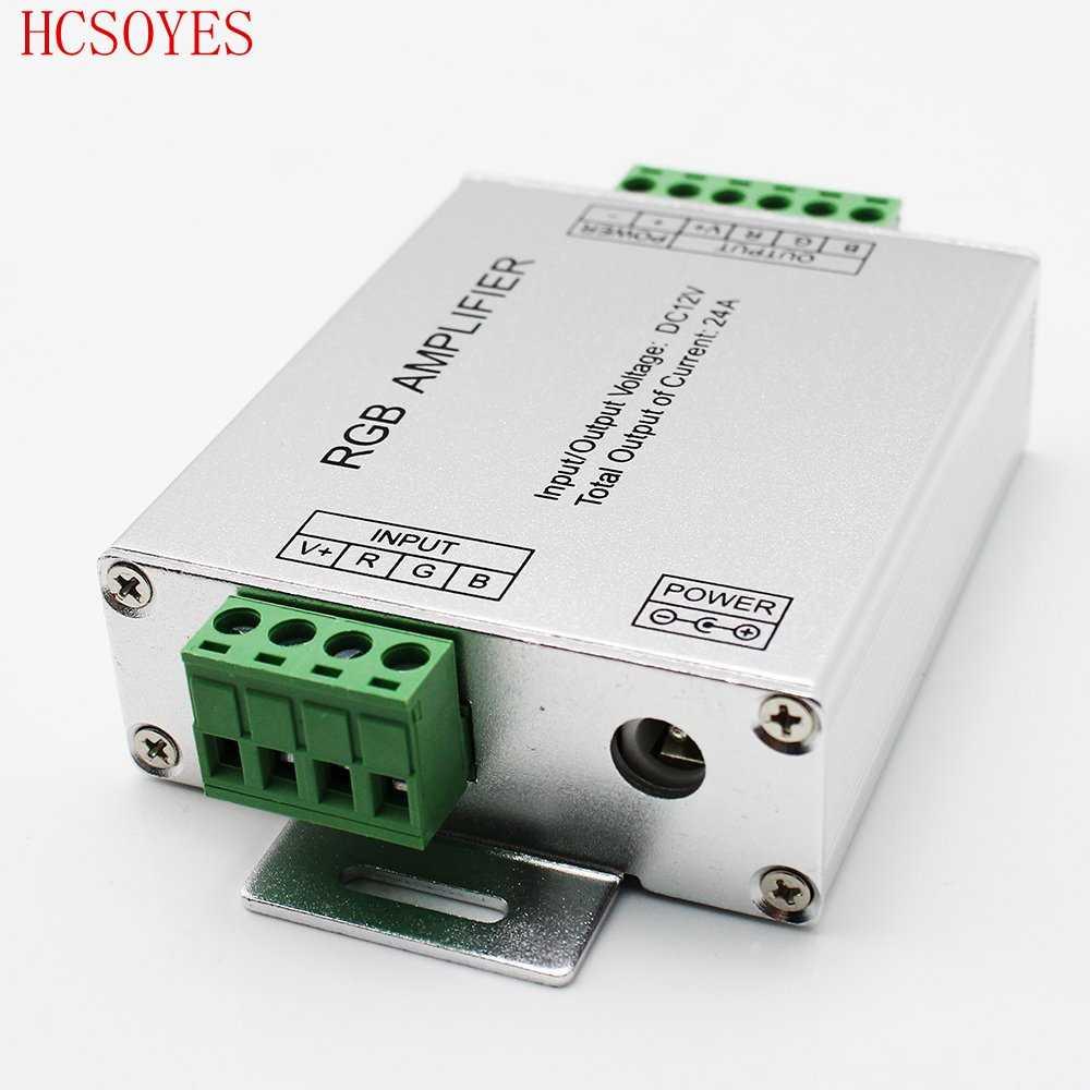 LED RGBW/wzmacniacz RGB DC12-24 V 24A 4 kanał wyjściowy RGBW/RGB taśmy LED wzmacniacz mocy sterownik konsoli