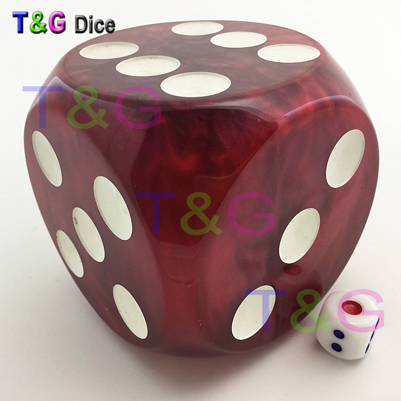 Jumbo Dice T&G High Quality 75mm Red Marble Effect Dice Home Decoration For Gift high quality 1 75