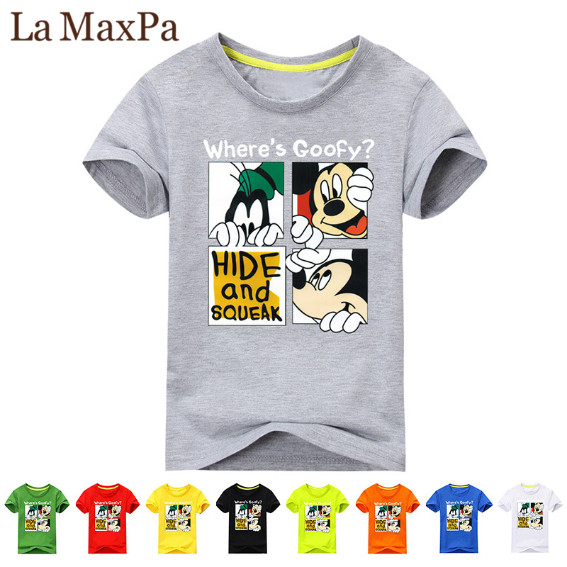 4ddf5c3a07e 2018 Girl Summer Short Sleeve 3D Mickey Print T-shirts For Boy Cotton Tee  Tops Clothes Children O-Neck T Shirt Costume Kid