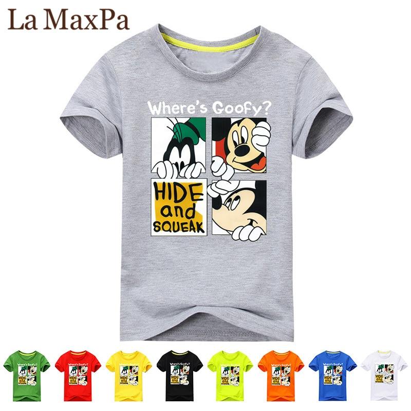 f866c88a1b24 2018 Girl Summer Short Sleeve 3D Mickey Print T-shirts For Boy Cotton Tee  Tops Clothes Children O-Neck T Shirt Costume Kid
