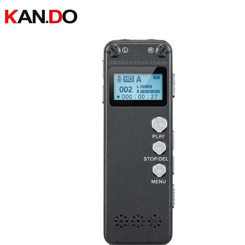 лучшая цена V31 8GB AGC Microphone 8GB Digital Voice Recorder Dictaphone Voice Activated PCM 560 Hours Audio Recorder with OLED Display
