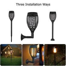 96 Светодиодный светильник на солнечной батарее, мерцающий фонарь светильник IP65, водонепроницаемый садовый светильник, зарядка через usb, лампа для газона, три режима установки