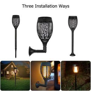 96 LED Solar Flame Lamp Flicke