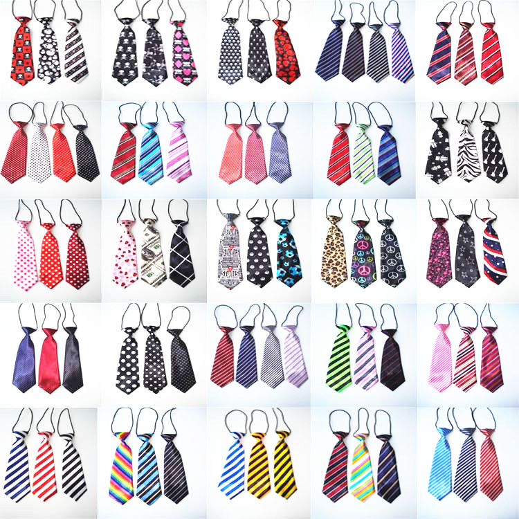 100PC Lot Stripes Large Dog Ties Neckties For Big Dogs Grooming Bow Ties Pet Supplies