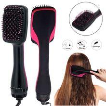 2 в 1 Фен-щетка многофункциональная электрическая фен для волос щетка Горячая расческа для завивки волос салон Стайлинг стайлер дропшиппинг
