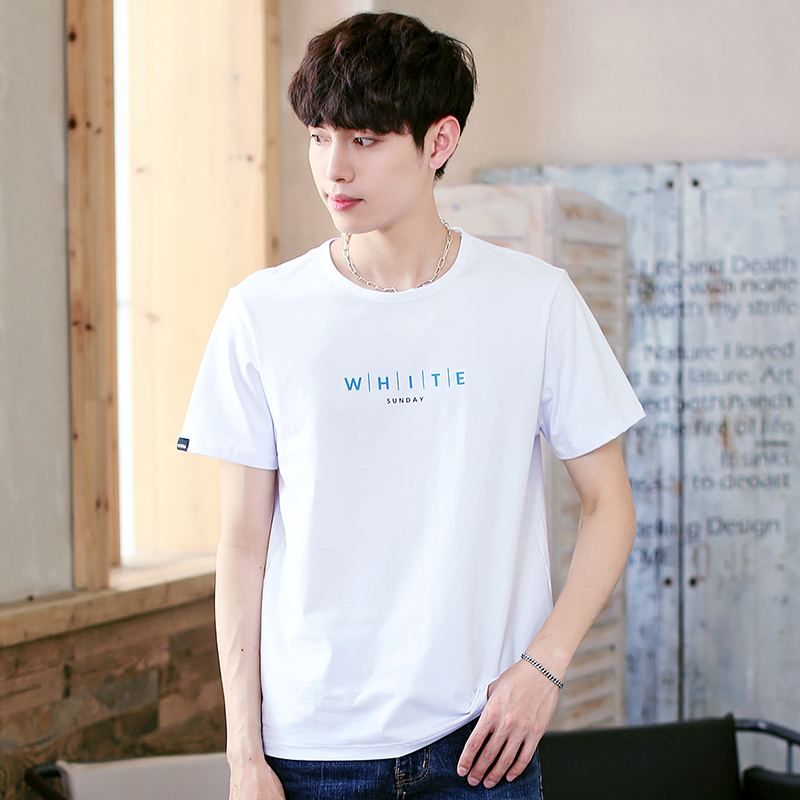 2018 fashion 3D letter printing t shirt mens cotton O collar mens T-shirt street funny short-sleeved mens brand tops