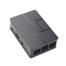 1pcs Raspberry Pi 3 Model B Black Case Plastic Raspberry Pi 2 Cover Shell Enclosure Box ABS box for Raspberry pi 2