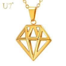 U7 геометрическое ожерелье s & Кулоны для мужчин специальное