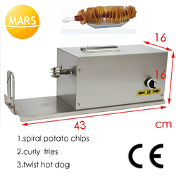 Electric Twister Potato Cutter Stainless Steel Potato Spiral Cutter Tornado Potato Slicer Twist Hot Dog Maker Machine