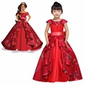 Kid's Dress Cosplay Princess Elena Red Dress Elena of Avalor Princess Dress Cosplay Costume Custom Made for Party