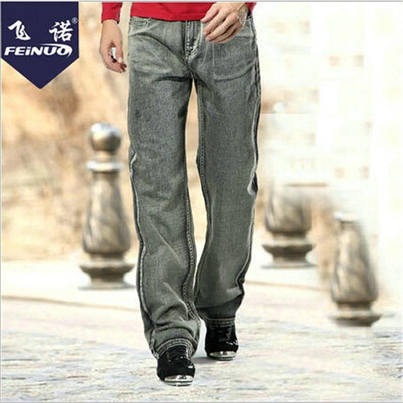 Plus Size Mens Jeans Brand Vintage Straight X-Long Men Denim Pants Autumn And Winter Jeans Pants For Man Wt1176 afs jeep autumn jeans mens straight denim trousers loose plus size 42 cowboy jeans male man clothing men casual botton