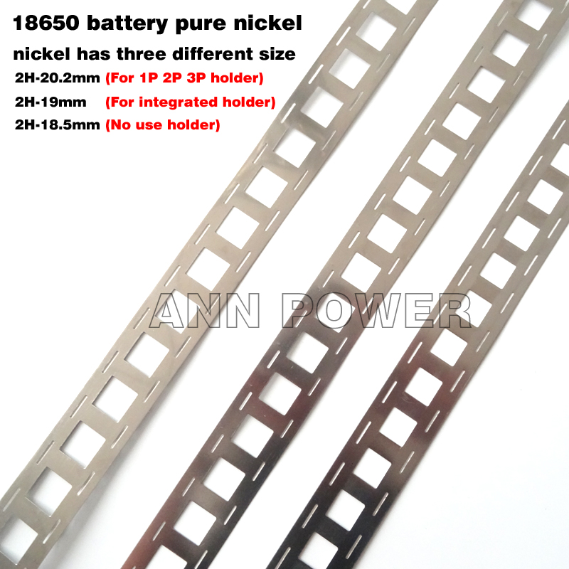 1M 99.96% High purity Pure Nickel belt 3P 4P 5P 6P lithium battery nickel strip Li-ion batteries Ni plate used for 18650 battery