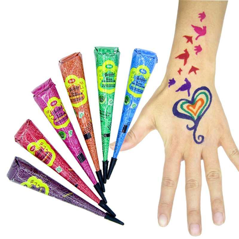 Henna Tattoo To Buy: Aliexpress.com : Buy 12pcs 6 Colors Henna Body Tattoo