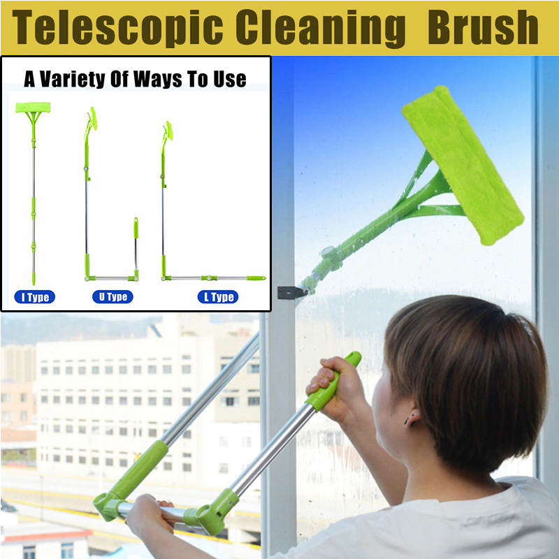 New Window Cleaner Telescopic High-rise Cleaning Brush Multi Glass Cleaner Mirrors Wiper Sponge Mop Clean Windows Dust Brush