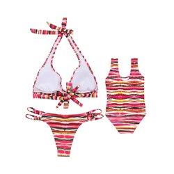 Nowy rad w paski matka i córka garnitur kobiet podzielone stroje kąpielowe dla dzieci jeden kawałek swimmingsuit 2019 gorący bubel dla dzieci na plaży nosić 5