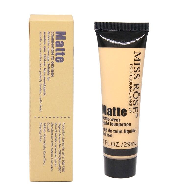Miss Rose Brand Bronzer Makeup Base Foundation Silicone Puff Liquid Foundation Cream Concealer