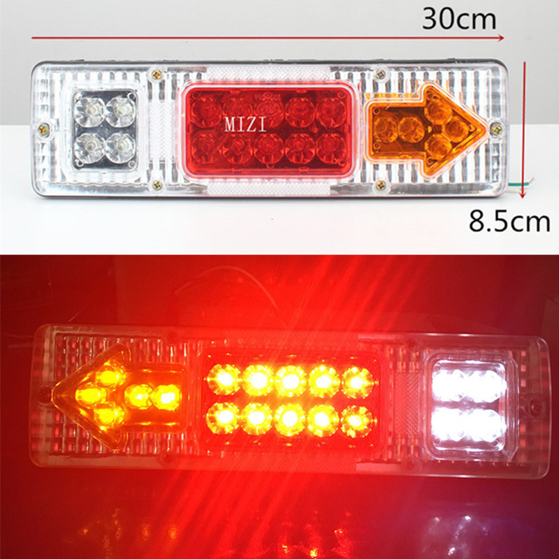 Caravan Led Trailer Tail Lights 12V 24V LED Rear Turn Signal Truck Trailer Stop Rear Tail Indicator Light Lamp 2 pcs led light tirol 13 to 7 pin adapter trailer 12v towbar towing caravan truck electrical converter n type plastic