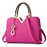 2017 Women Handbags Tassel Imitation Pearl Sequined Rivets Lady Shoulder Bags Casual Top Handle Totes Messenger