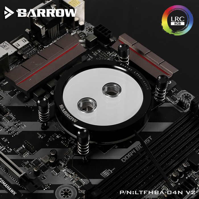 Barrow CPU Water BLOCK ใช้สำหรับ AMD RYZEN AM3 AM3 + AM4 ซ็อกเก็ตอะคริลิค + ทองแดงหม้อน้ำ RGB 5V GND ถึง 3PIN Hearder ในเมนบอร์ด
