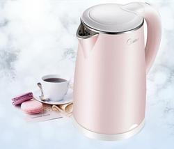 Midea hosehold pink Electric Kettle Double Anti-scalding 304 Stainless Steel 1.7L home hot water Kettle WHJ1705b